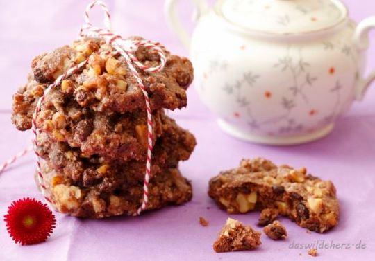 Rezept: Nuss-Schoko-Cookies als Nervennahrung